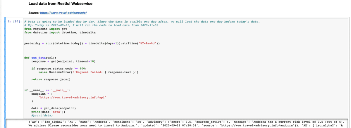 Code from the Jupyter notebook