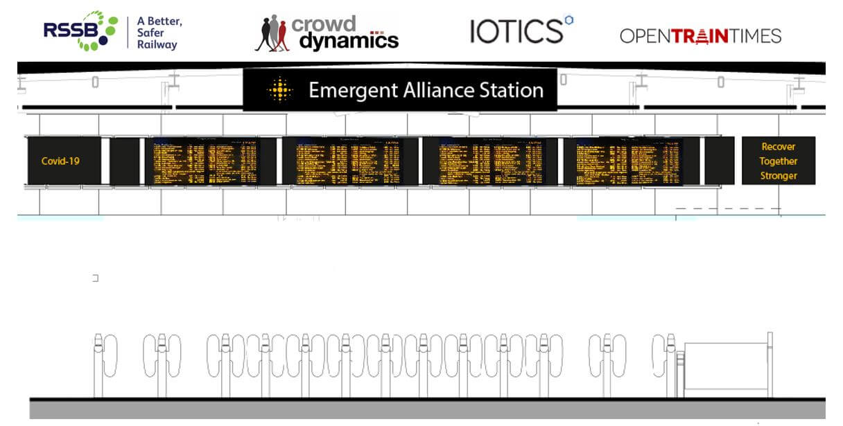 An illustration of the Emergent Alliance train station!